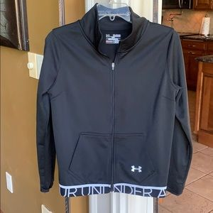 UNDER ARMOR XS (youth XL) front zip jacket NWOT!